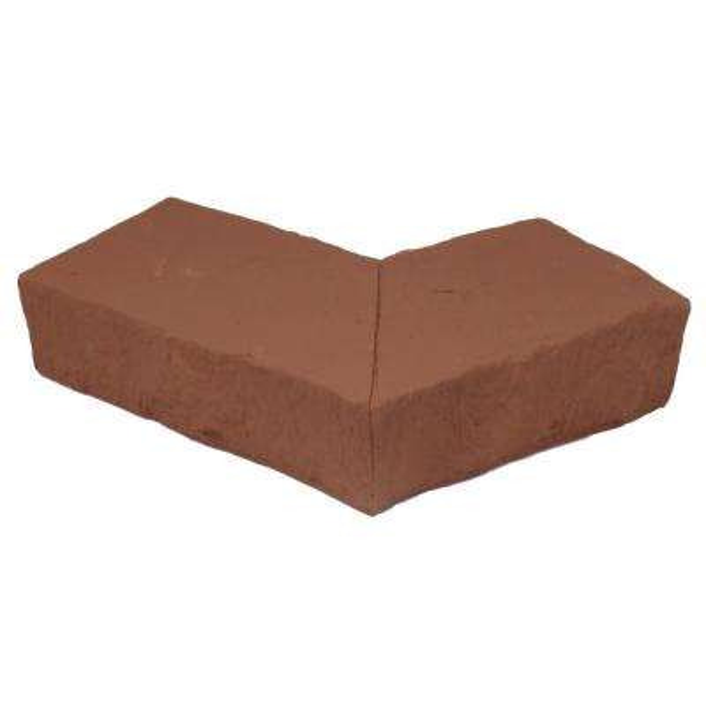 Sandstone Red 6.25 in. x 4.25 in. Faux Stone Ledger Outside Corner (2-Pack)