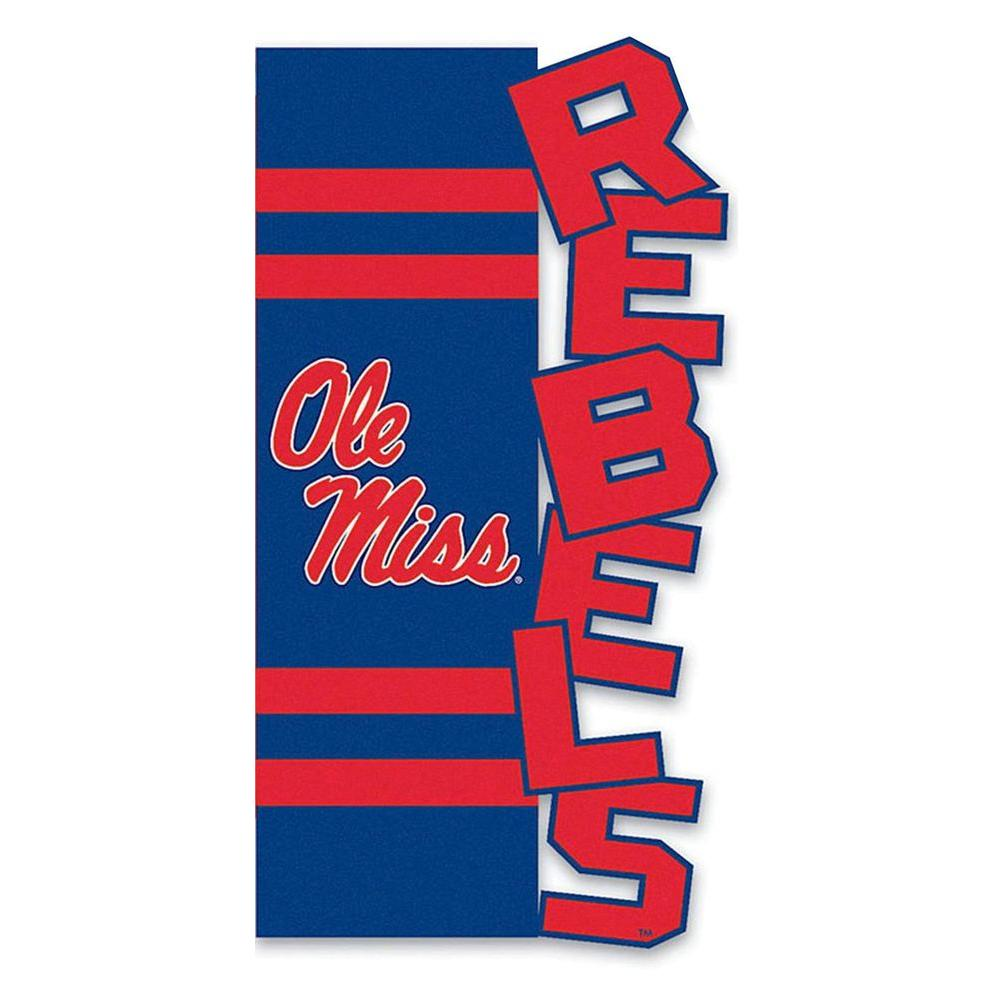 Evergreen Enterprises NCAA 12-1/2 in. x 18 in. Ole Miss Sculpted Garden Flag