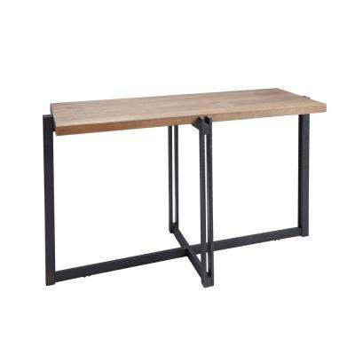 Dakota Gray and Brown Wood Top Console Table