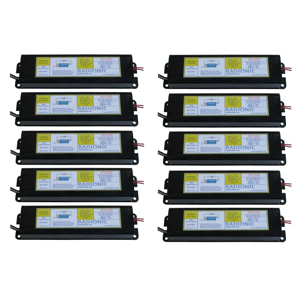 Radionic Hi Tech High Power Factor Ballast For 1 F34 40t12 Lamp 10 Electrical Wiring Diagrams 480v Metal Halide 150w Hps