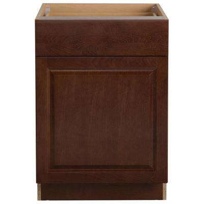 Benton Assembled 24x34.5x24.6 in. Base Cabinet with Soft Close Full Extension Drawer in Amber