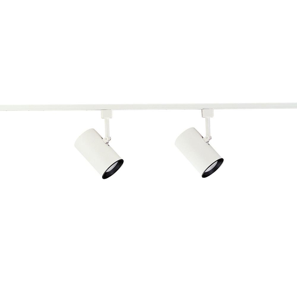 2 ft. 2-Light White with Black Baffle Track Lighting Kit