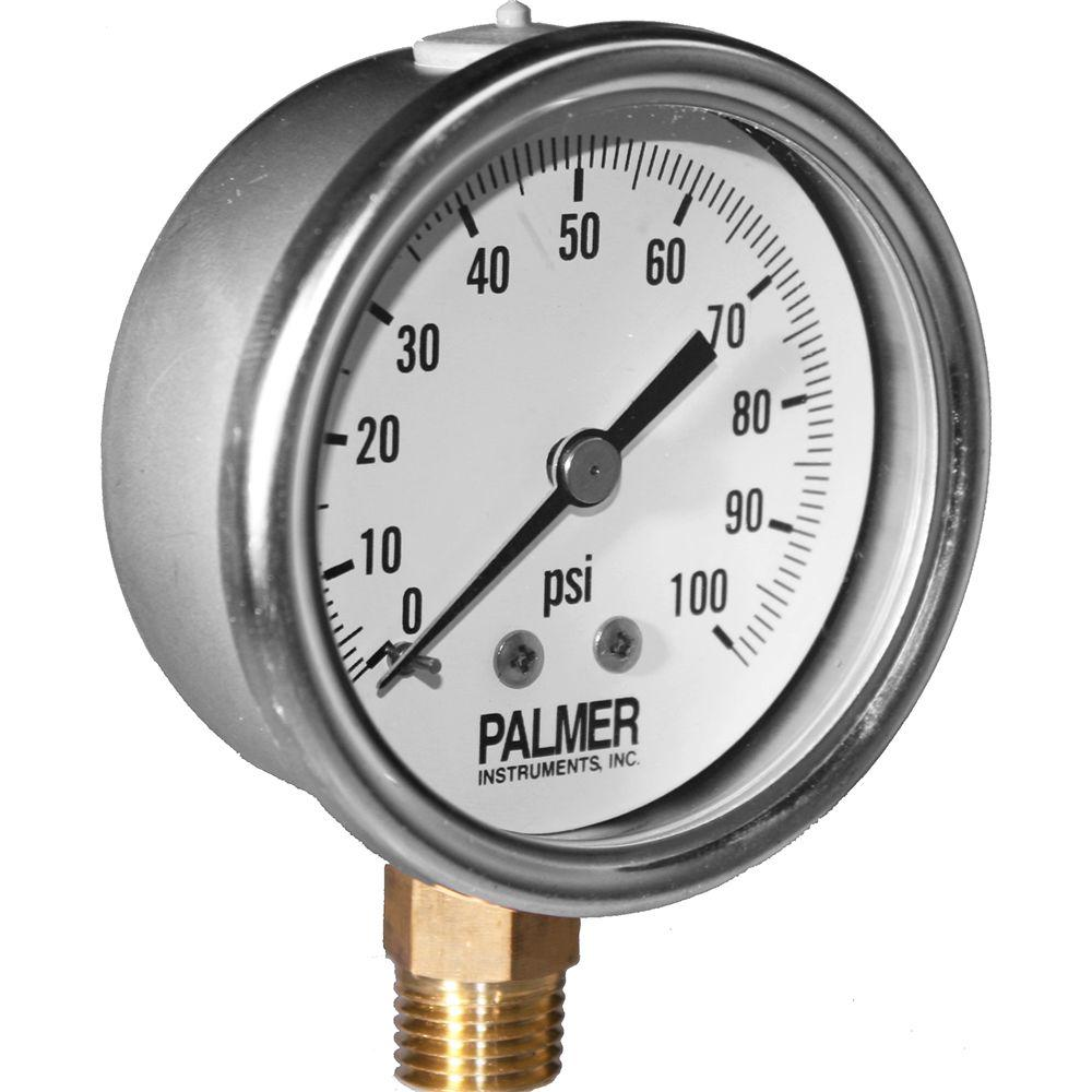 2.5 in. Dial 100 psi Stainless Steel Case Gauge