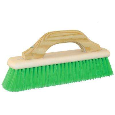 12 in. Green Nylex Concrete  Brush - Wood Block