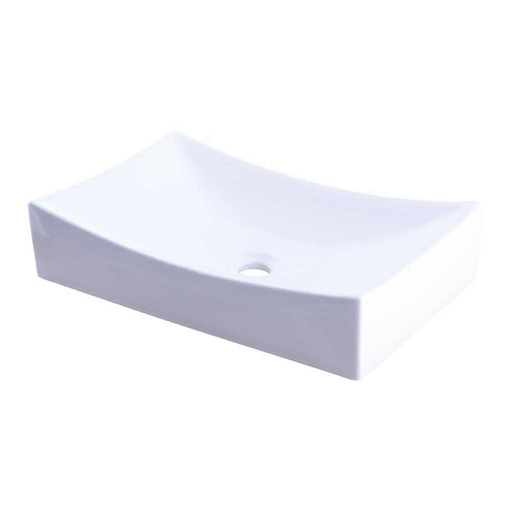 Modern Porcelain Vessel Sink in White