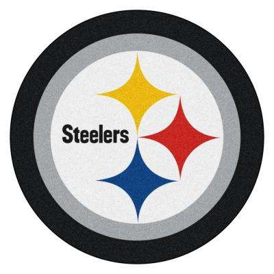 NFL - Pittsburgh Steelers Mascot Mat 36 in.  x 36 in. Indoor  Area Rug
