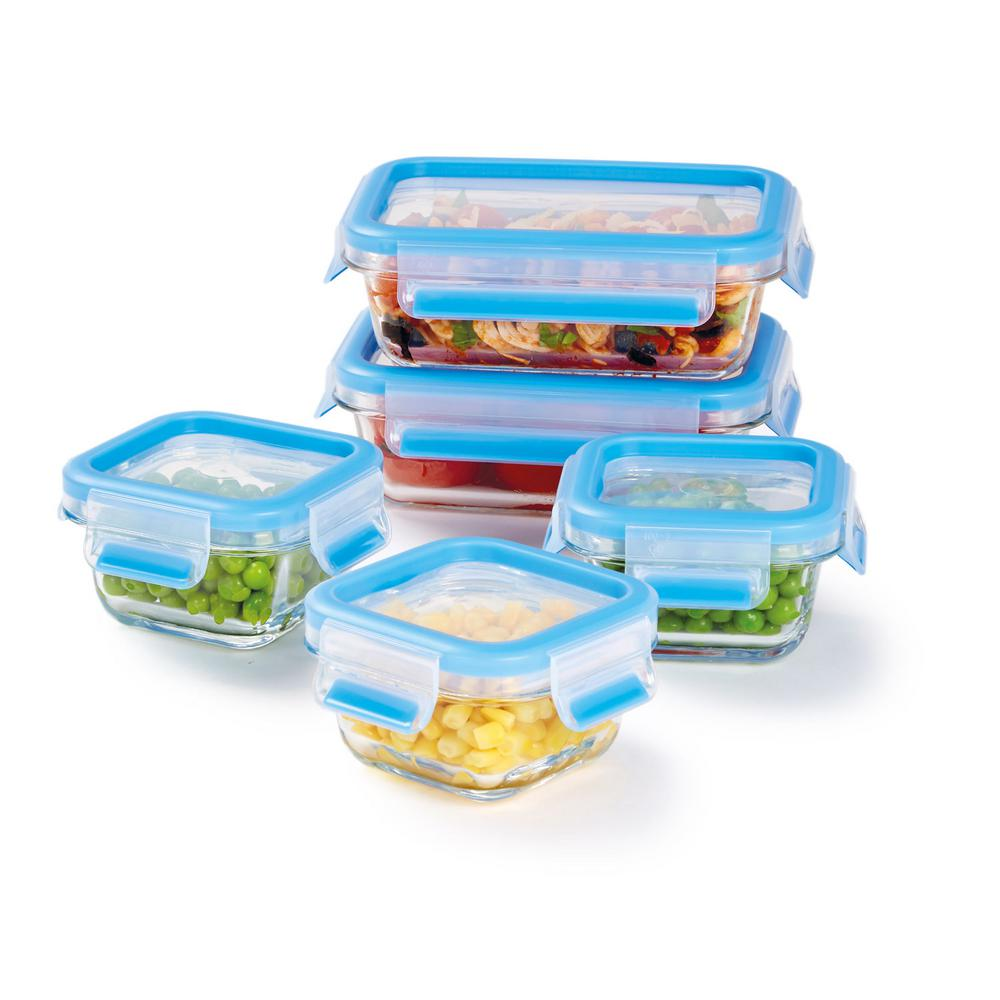 zyliss fresh glass food storage container 10 piece set. Black Bedroom Furniture Sets. Home Design Ideas