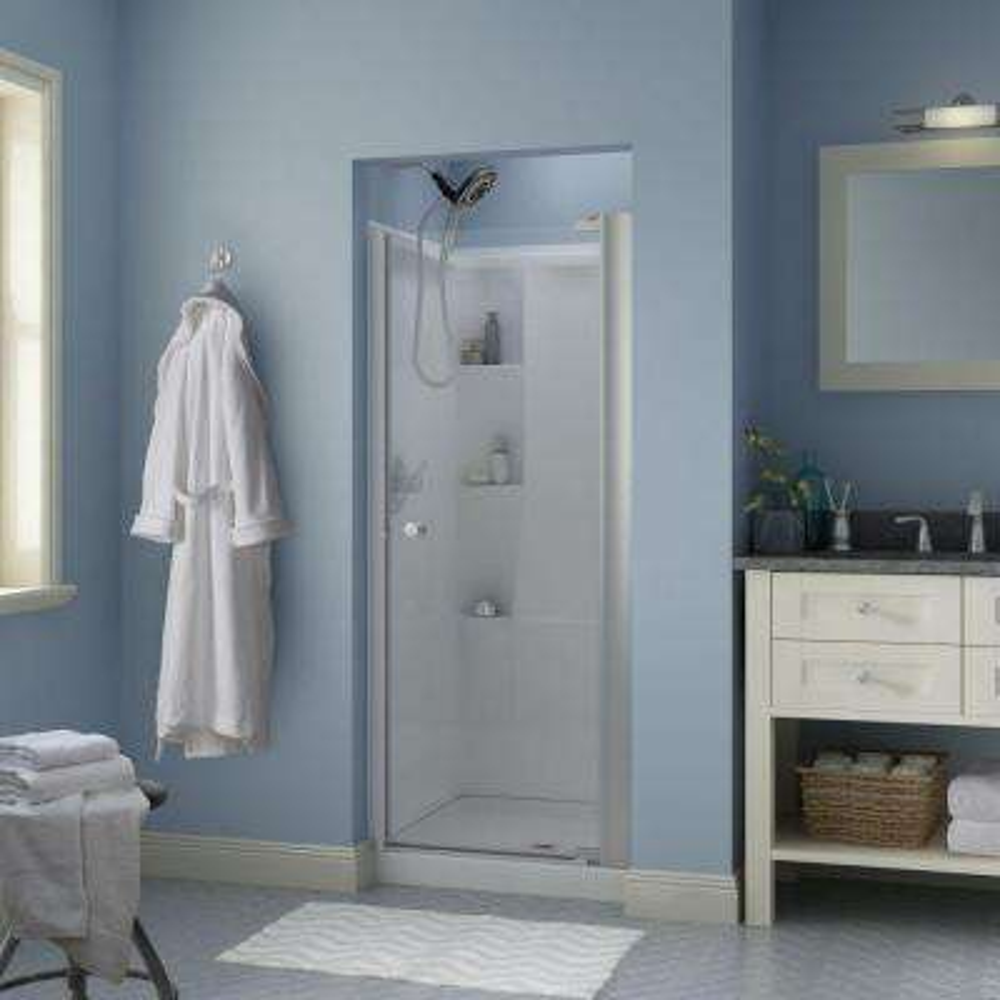 Delta Pivot Hinged Shower Doors Showers The Home Depot