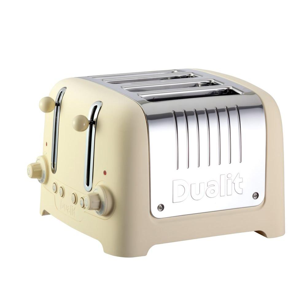 Dualit Lite Traditional Desing Chunky 4-Slice Toaster Cream Soft Touch-DISCONTINUED