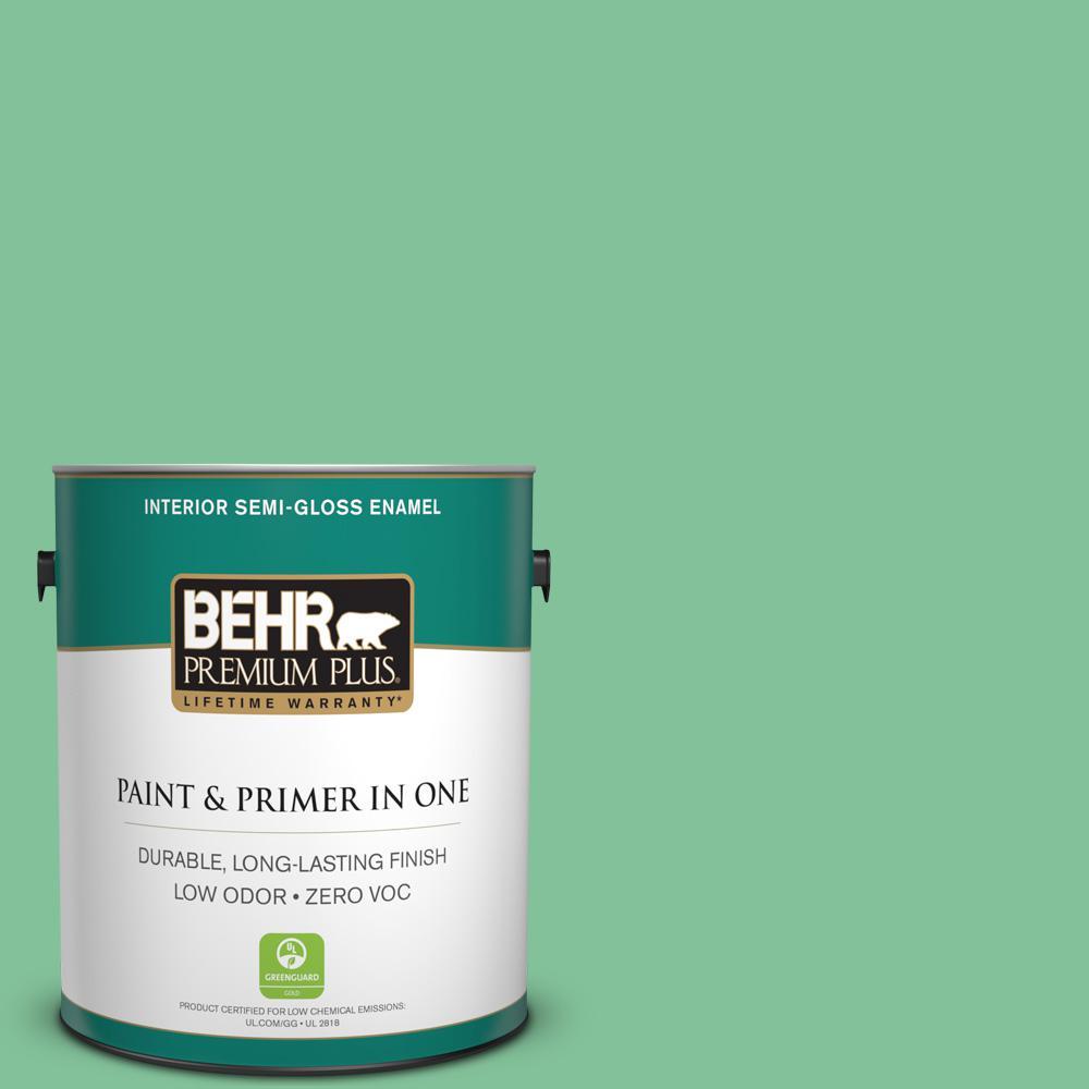 BEHR Premium Plus 1-gal. #P410-4 Willow Hedge Semi-Gloss Enamel Interior Paint