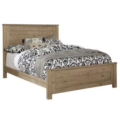 Wheaton Natural Full-Size Complete Panel Bed