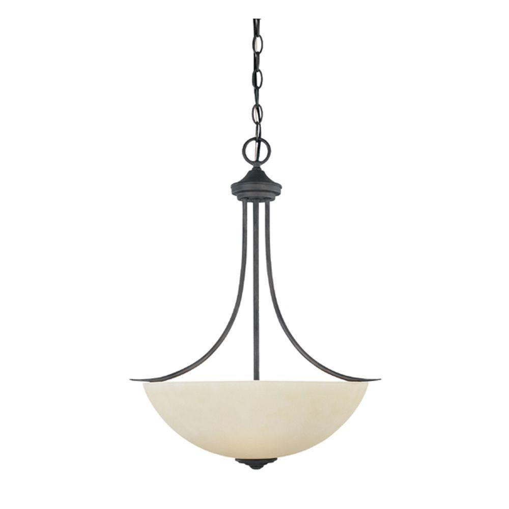 Montreal 3-Light Oil-Rubbed Bronze Hanging Pendant