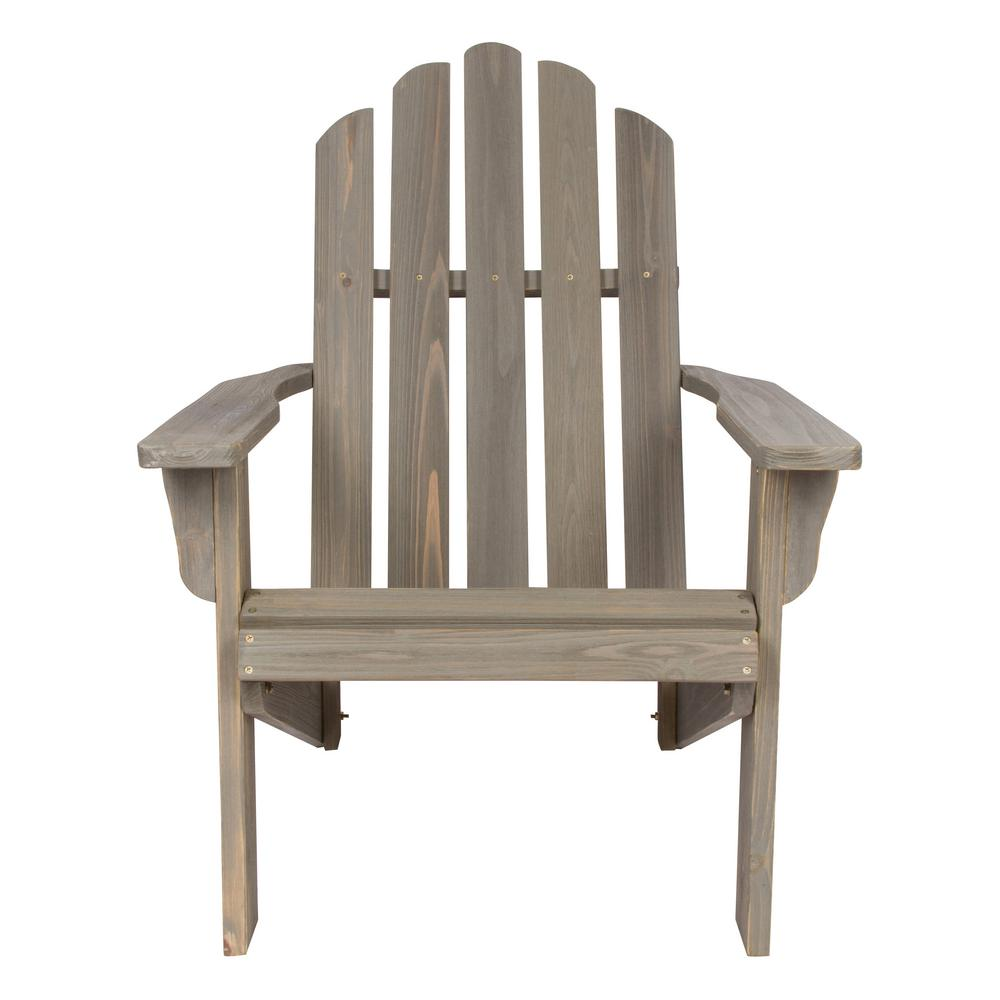 Incroyable Shine Company Marina Vintage Gray Rustic Cedar Wood Adirondack Chair