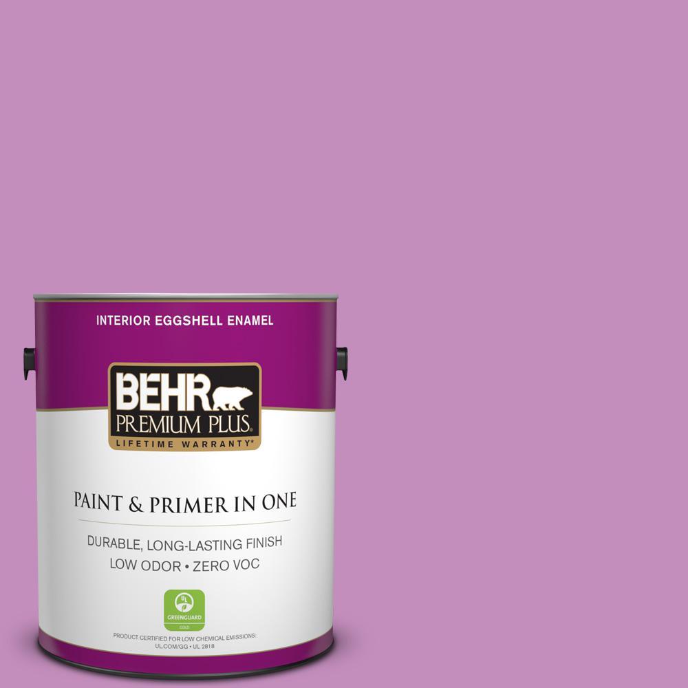 BEHR Premium Plus 1-gal. #670B-5 Pretty Petunia Zero VOC Eggshell Enamel Interior Paint