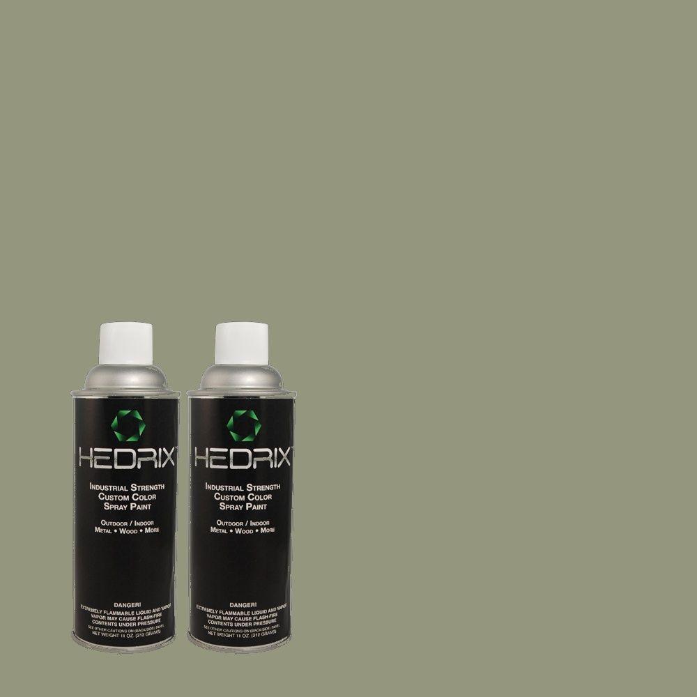 Hedrix 11 oz. Match of 460F-4 Wethersfield Moss Semi-Gloss Custom Spray Paint (2-Pack)