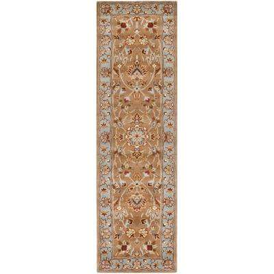 Heritage Beige/Blue 3 ft. x 6 ft. Runner Rug