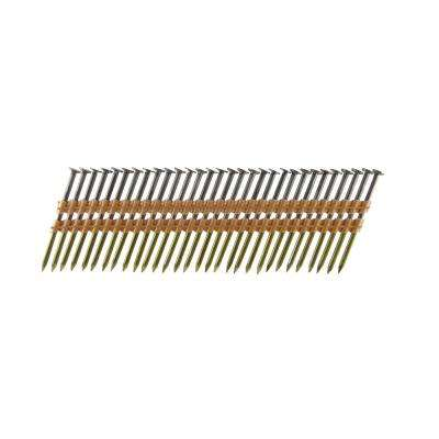 3-1/4 in. x 0.131 Plastic Collated Bright Smooth Shank Framing Nails (500 per Box)