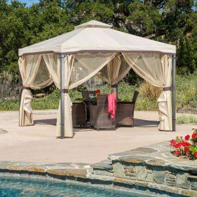 Skyline 9.8 ft. x 9.8 ft. Beige Gazebo
