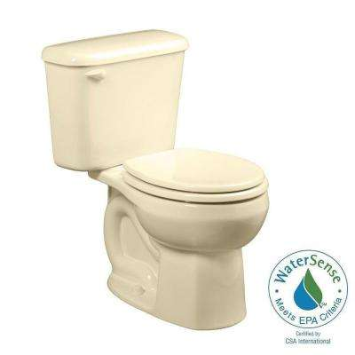 Colony 10 in. Rough-In 2-piece 1.28 GPF Single Flush Round Toilet in Bone