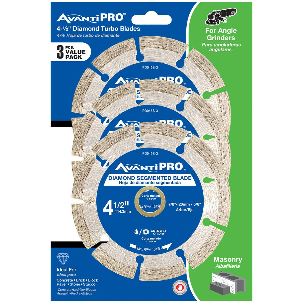 4.5 in. Segmented Diamond Blade (3-Pack)