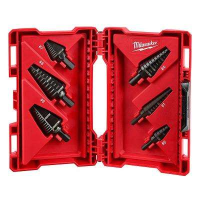 Black Oxide Step Drill Bit Set (6-Piece)