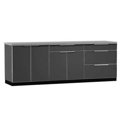 Aluminum Slate 4-Piece 97x36x24 in. Outdoor Kitchen Cabinet Set