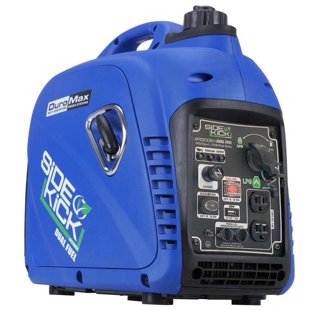 2,200-Watt/1,800-Watt Recoil Start Dual Fuel Digital Powered Hybrid Portable Inverter Generator