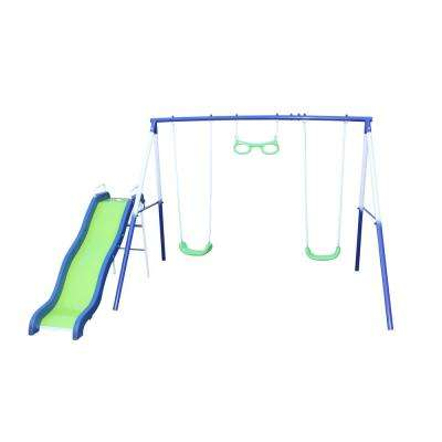 Sierra Vista Metal Swing and Slide Set