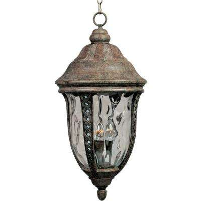 Whittier Die Cast 3-Light Earth Tone Outdoor Hanging Lantern