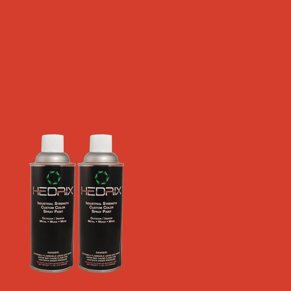 Hedrix 11 oz. Match of S-G-180 Grenadine Flat Custom Spray Paint (2-Pack)