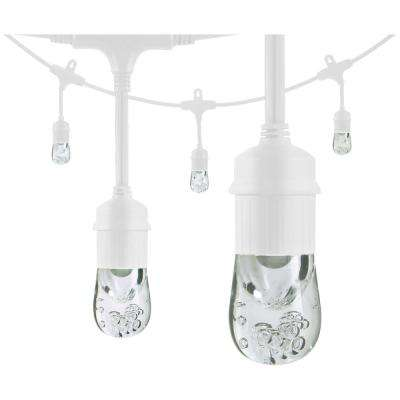 6-Bulb 12 ft. Classic Integrated LED Cafe String Lights, White