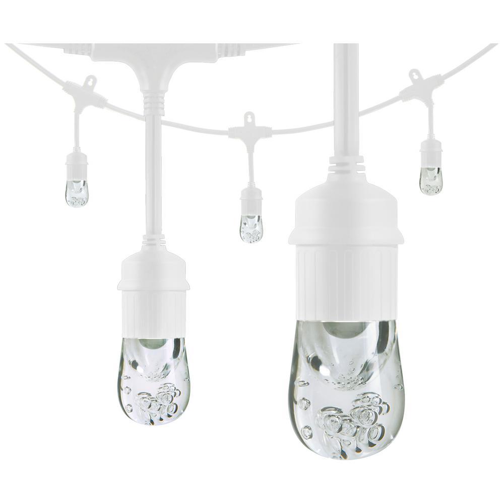 Enbrighten Outdoor String Lights: Enbrighten 12 Ft. White Integrated LED Caf String Light