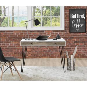 Altra Furniture Owen White And Sonoma Oak Desk 9890296com