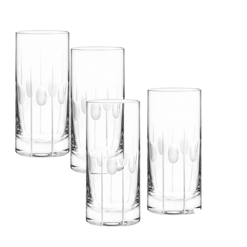 Gulfstream 18 oz. Highball Glass (4-Piece Set)