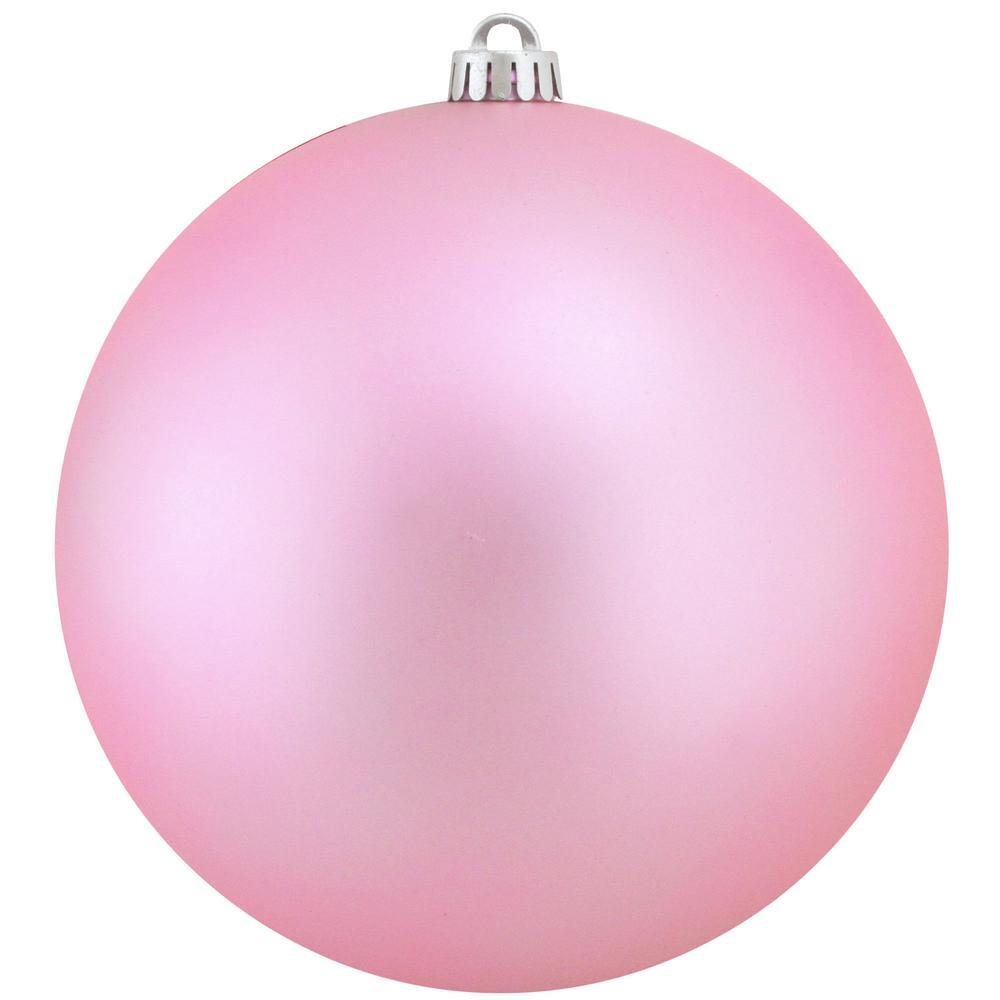 12 in. (300 mm) Matte Bubblegum Pink Commercial Shatterproof Christmas Ball Ornament