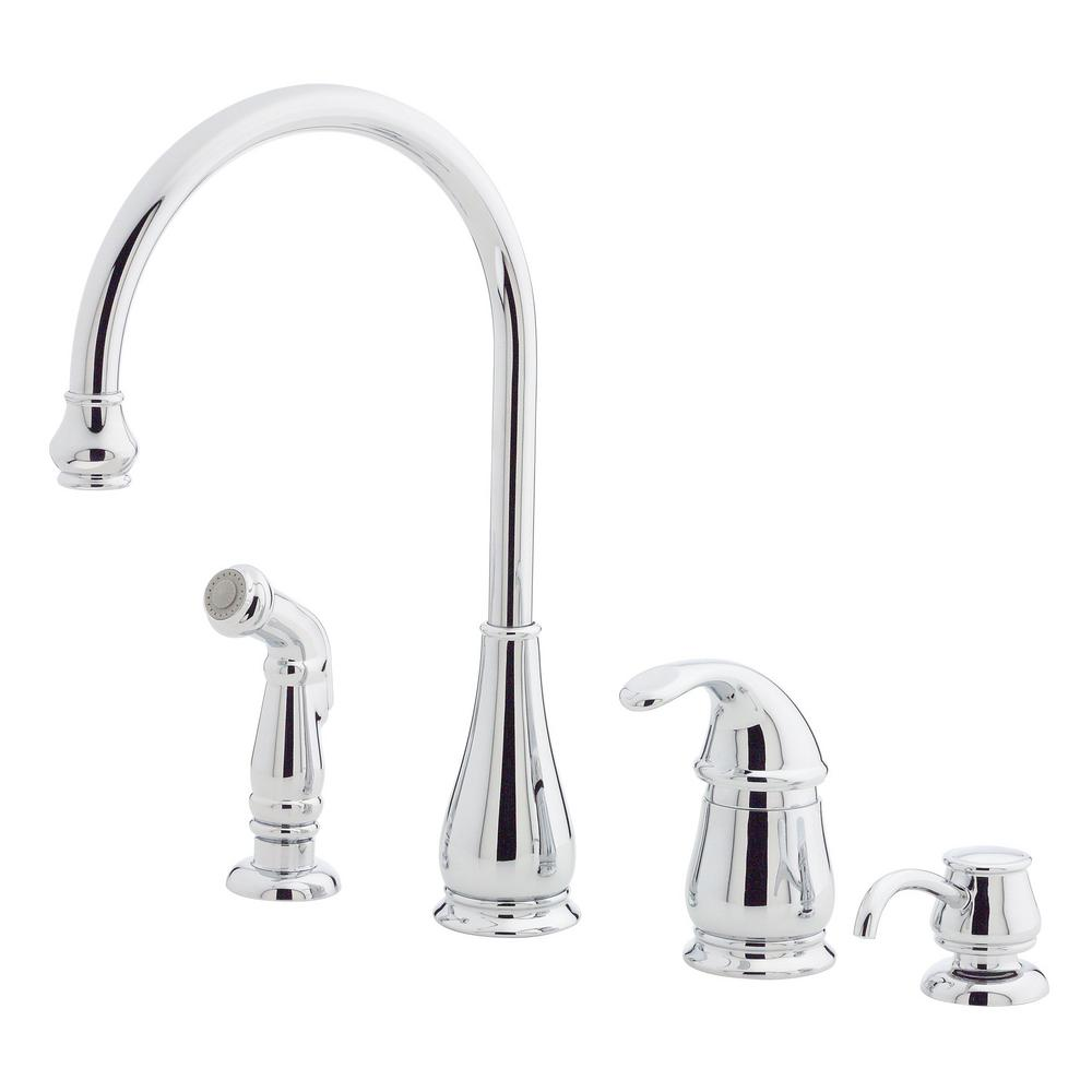 Pfister Treviso Single-Handle Standard Kitchen Faucet with Side ...