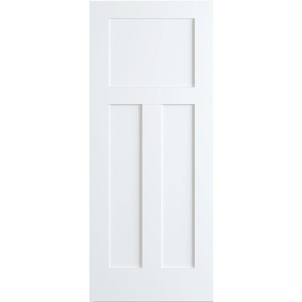 Kimberly Bay 28 In X 80 In White 1 Panel Shaker Solid: Kimberly Bay 24 In. X 80 In. White 1+2 Panel Shaker Solid