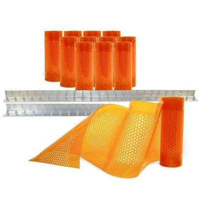 AirStream Insect Barrier 6 ft. x 8 ft. Amber PVC Strip Door Kit