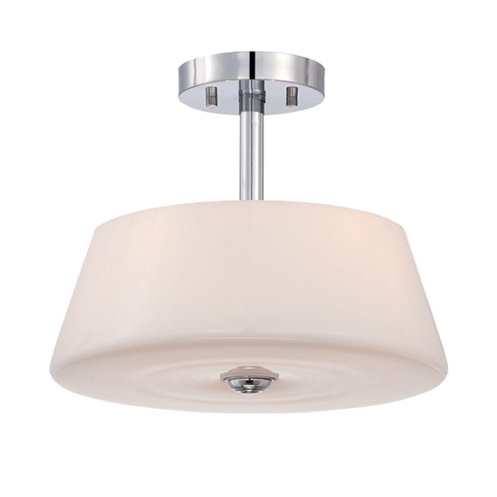 Enza Collection 3-Light Chrome Semi Flush Mount