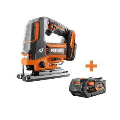18-Volt OCTANE Cordless Brushless Jig Saw with 4.0 Ah Lithium-Ion Battery