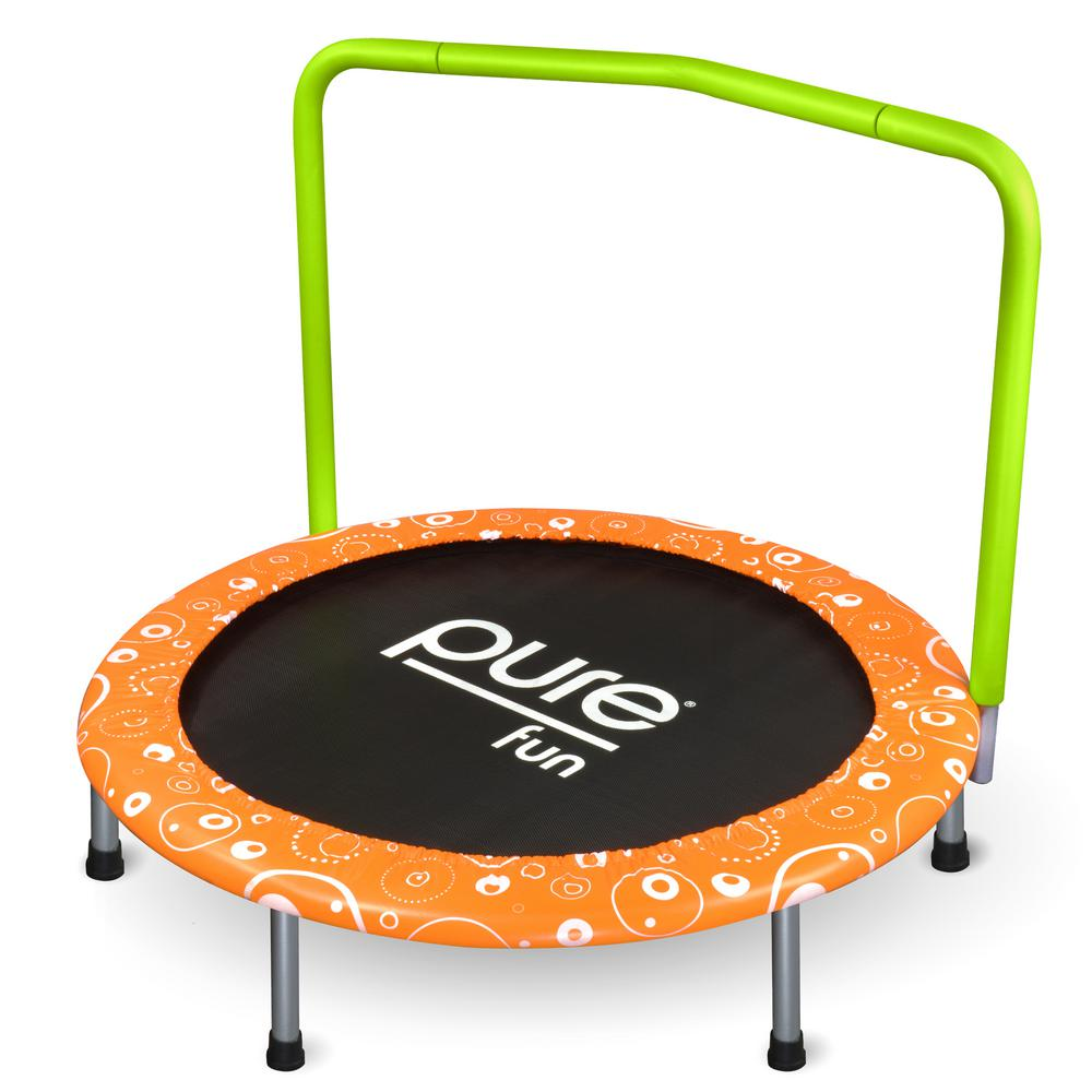 Pure Fun 36 in. Kids Bungee Trampoline with Handrail