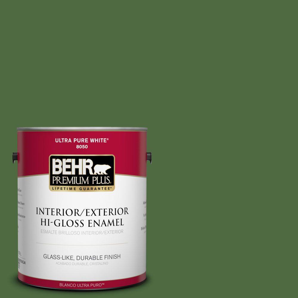 BEHR Premium Plus 1-gal. #440D-7 Vineyard Hi-Gloss Enamel Interior/Exterior Paint