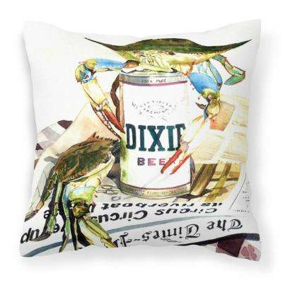 14 in. x 14 in. Multi-Color Lumbar Outdoor Throw Pillow Dixie Beer Canvas