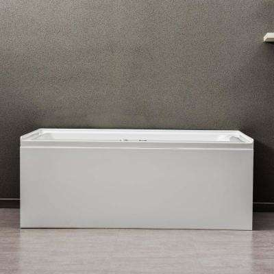 Flora 60 in. x 32 in. Acrylic Alcove Whirlpool Bathtub with Integral Apron and Left-Hand Drain in White