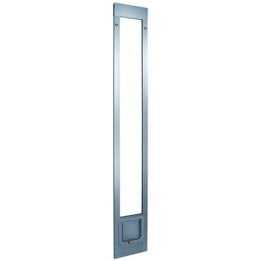 Ideal Pet 6.25 in. x 6.25 in. Small Cat Flap Mill Aluminum Pet Patio Door Fits 93.75 in.to96.5 in.Aluminum Slider-DISCONTINUED
