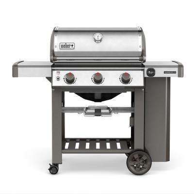 Genesis II S-310 3-Burner Propane Gas Grill in Stainless Steel with Built-In Thermometer