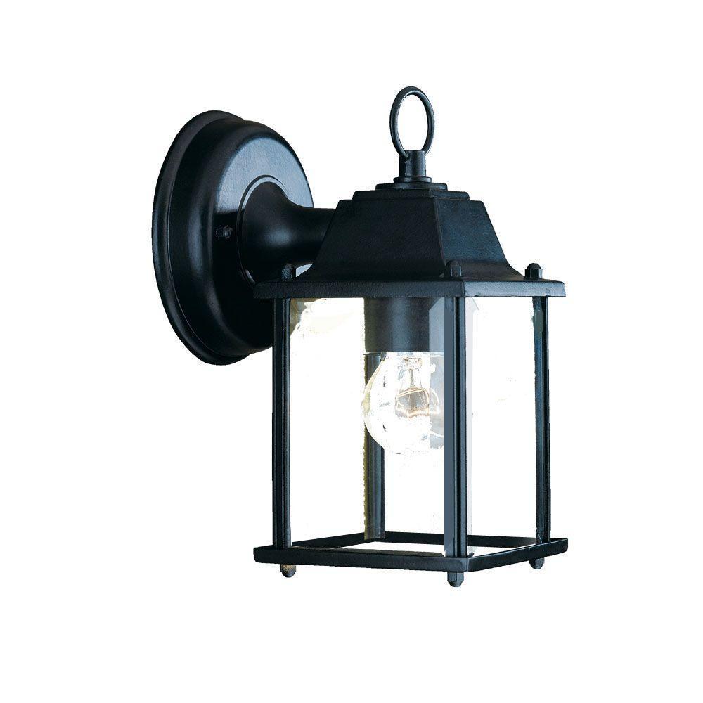 Builder's Choice Collection 1-Light Matte Black Outdoor Wall-Mount Light Fixture