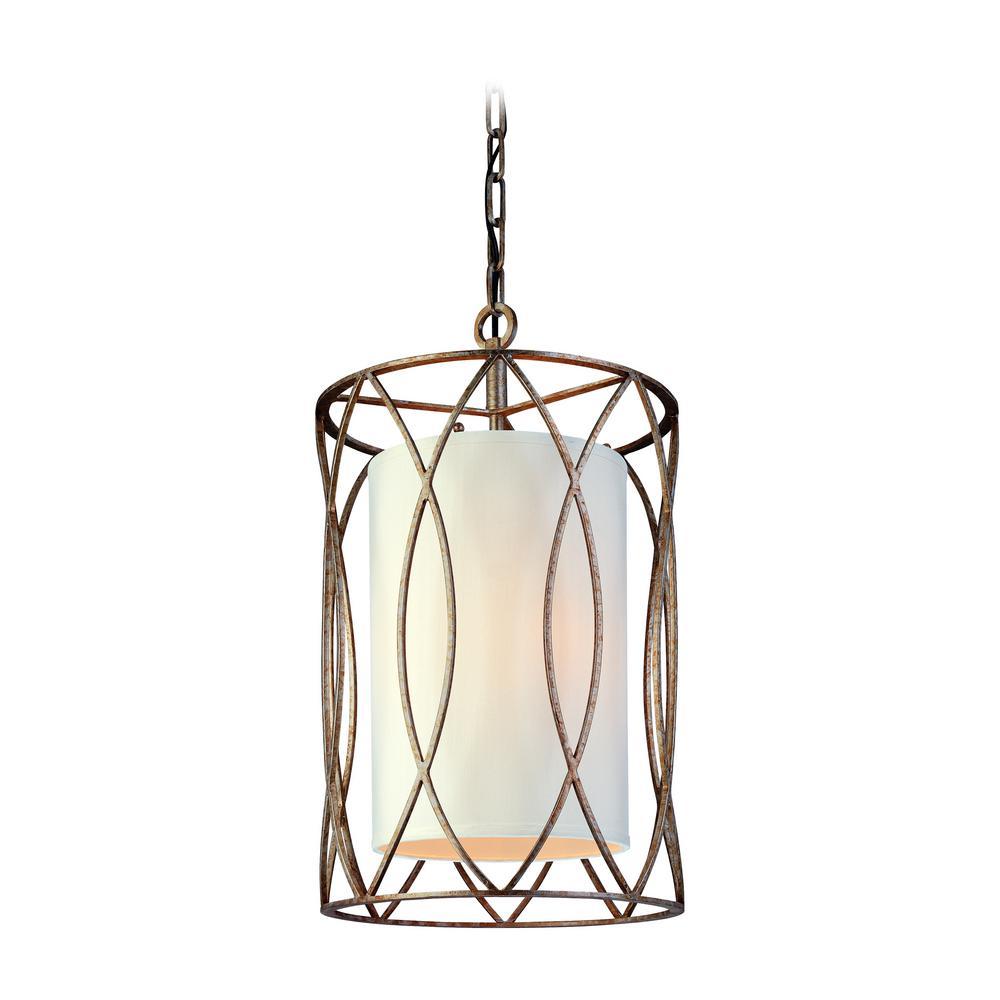 Troy Lighting Sausalito 3 Light Silver Gold Pendant