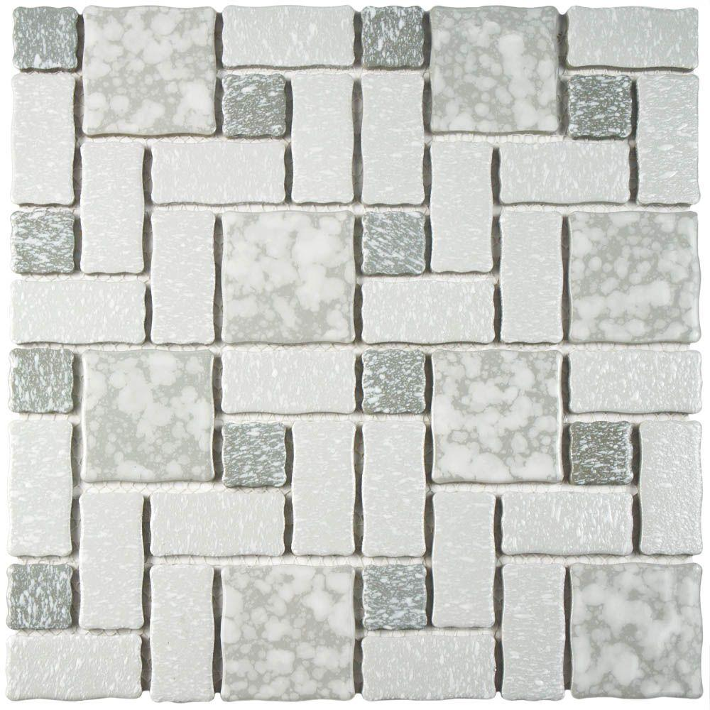 Merola Tile Academy Grey 11-3/4 in. x 11-3/4 in. x 5 mm Porcelain ...