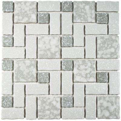 Academy Grey 11-3/4 in. x 11-3/4 in. x 5 mm Porcelain Mosaic Tile